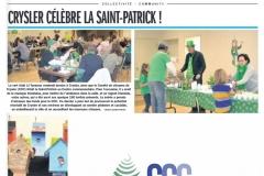 4.  Crysler célèbre la Saint-Patrick  Le Reflet jeudi 22 mars 2018